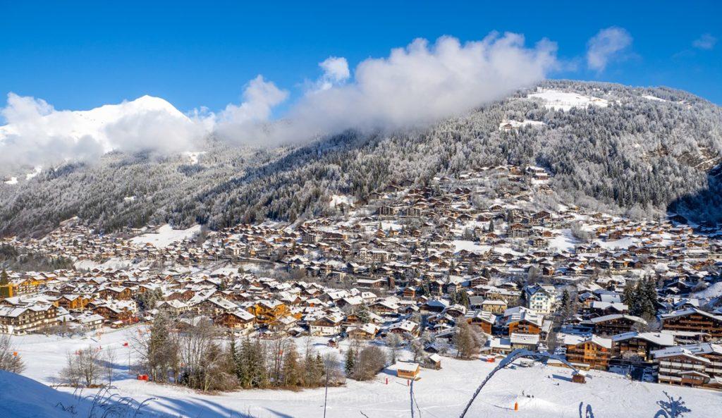 Station de Morzine sous la neige - Panorama