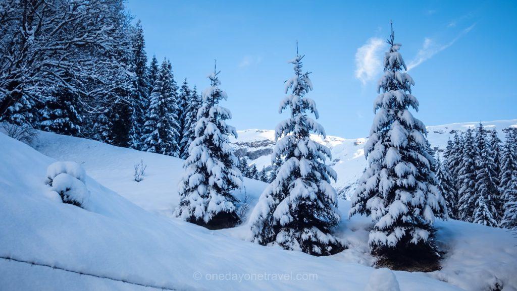 Décor de rêve et de neige à Morzine
