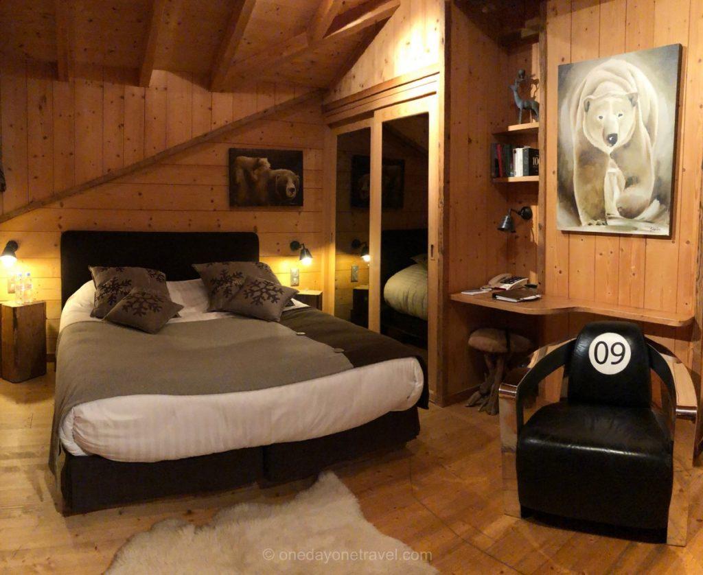 Chambre à l'hôtel chalet familial de La Bergerie à Morzine