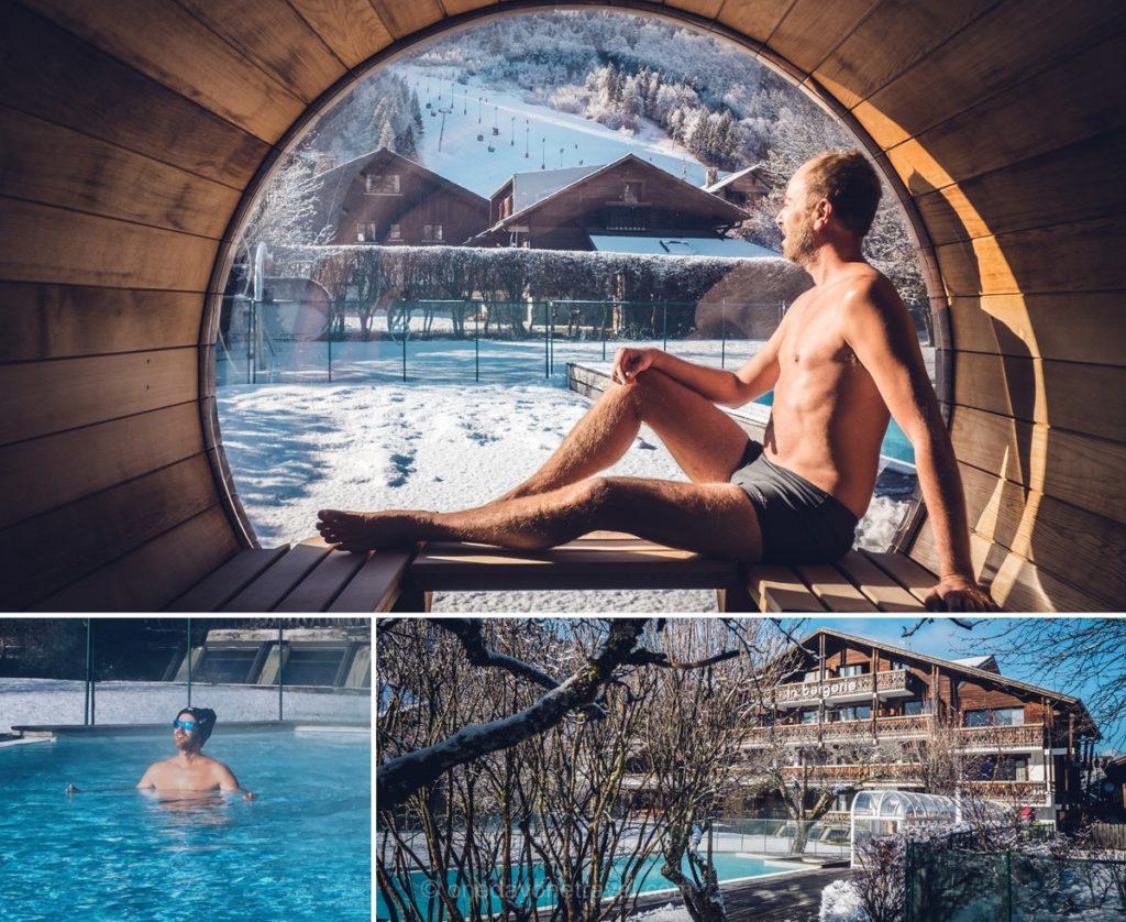 Spa hammam et piscine à l'hôtel La Bergerie à Morzine