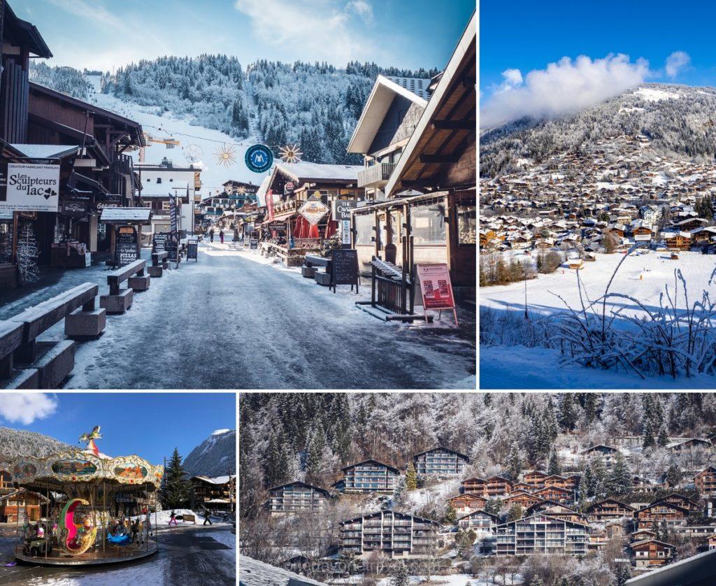 Station village de Morzine sous la neige