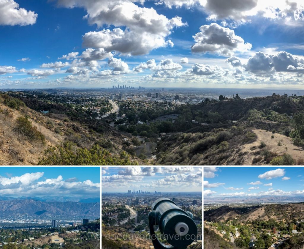 Panoramas et points de vue depuis Mulholland drive à Los Angeles