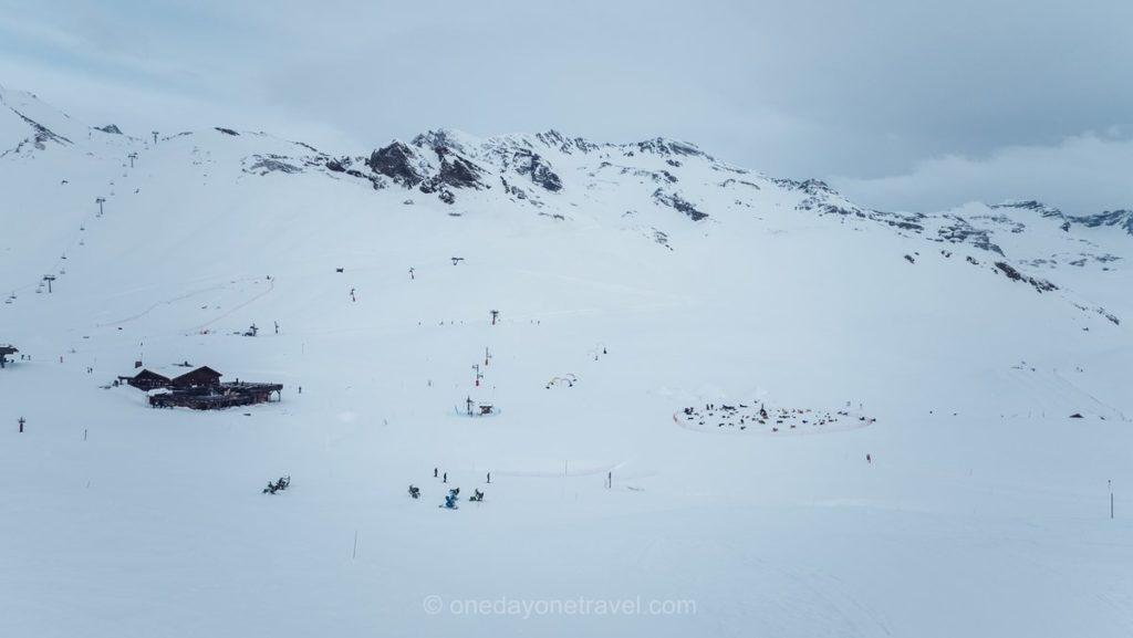 Plateau de Rocherousse à Orcières en hiver