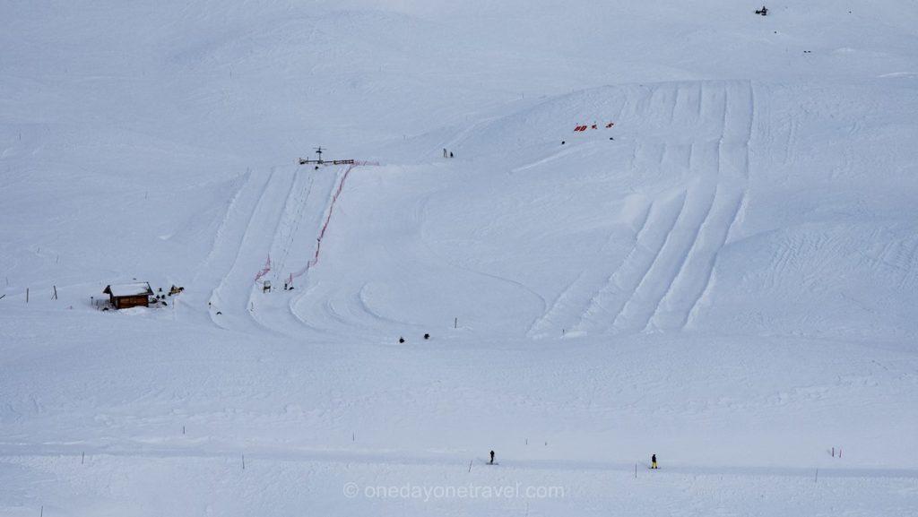 Pistes de bouée à neige au Winterparc d'Orcières
