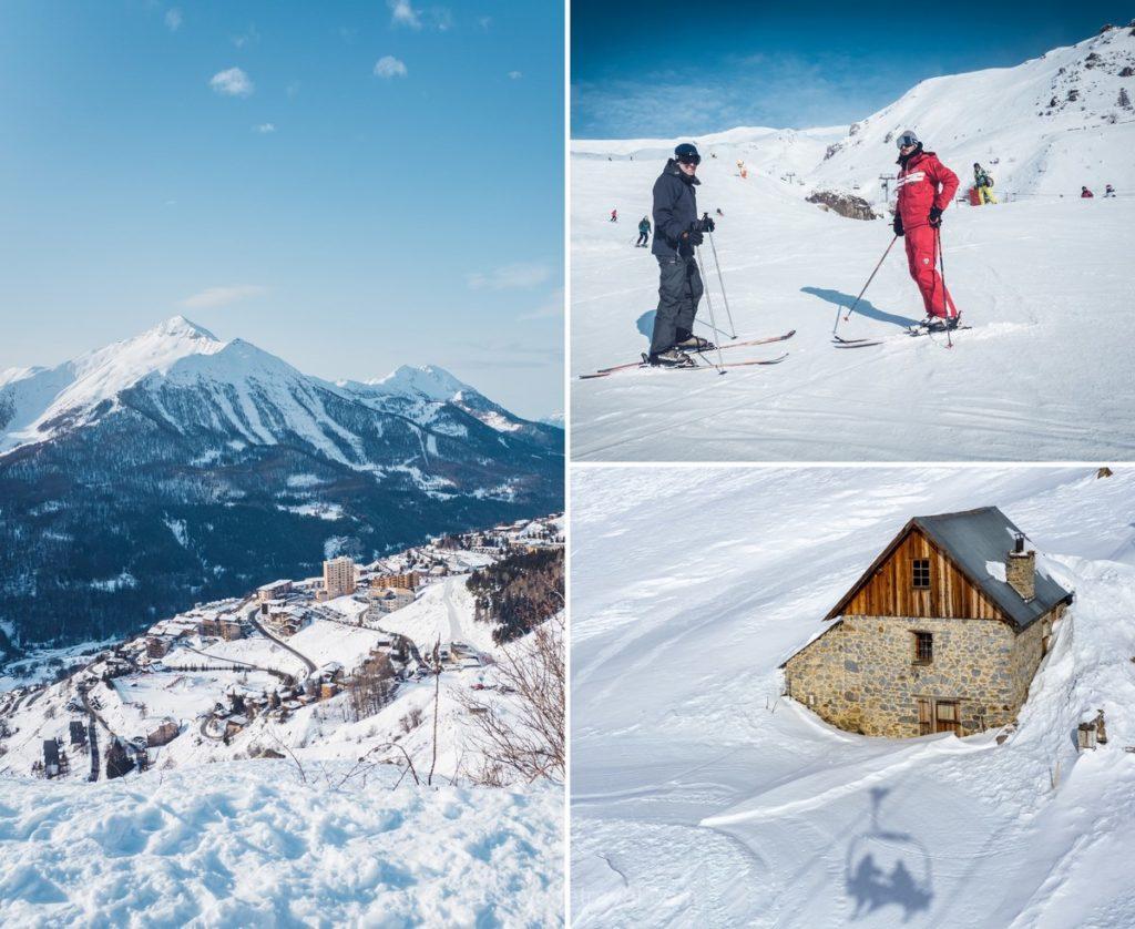 Matinée de ski dans la station d'Orcières