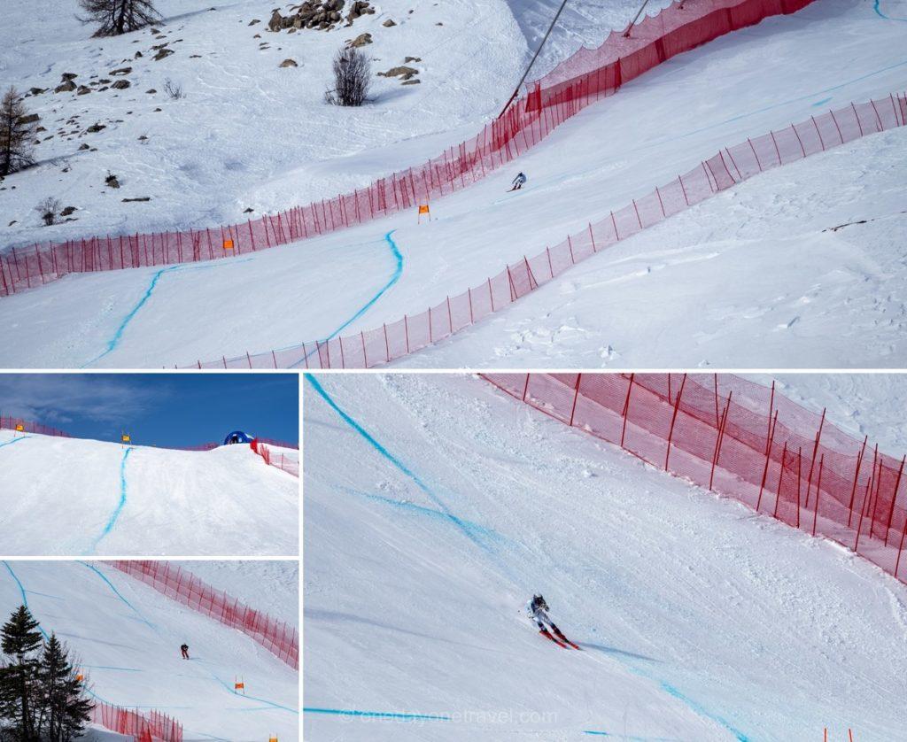 Piste du championnat d'Europe de ski alpin d'Orcières