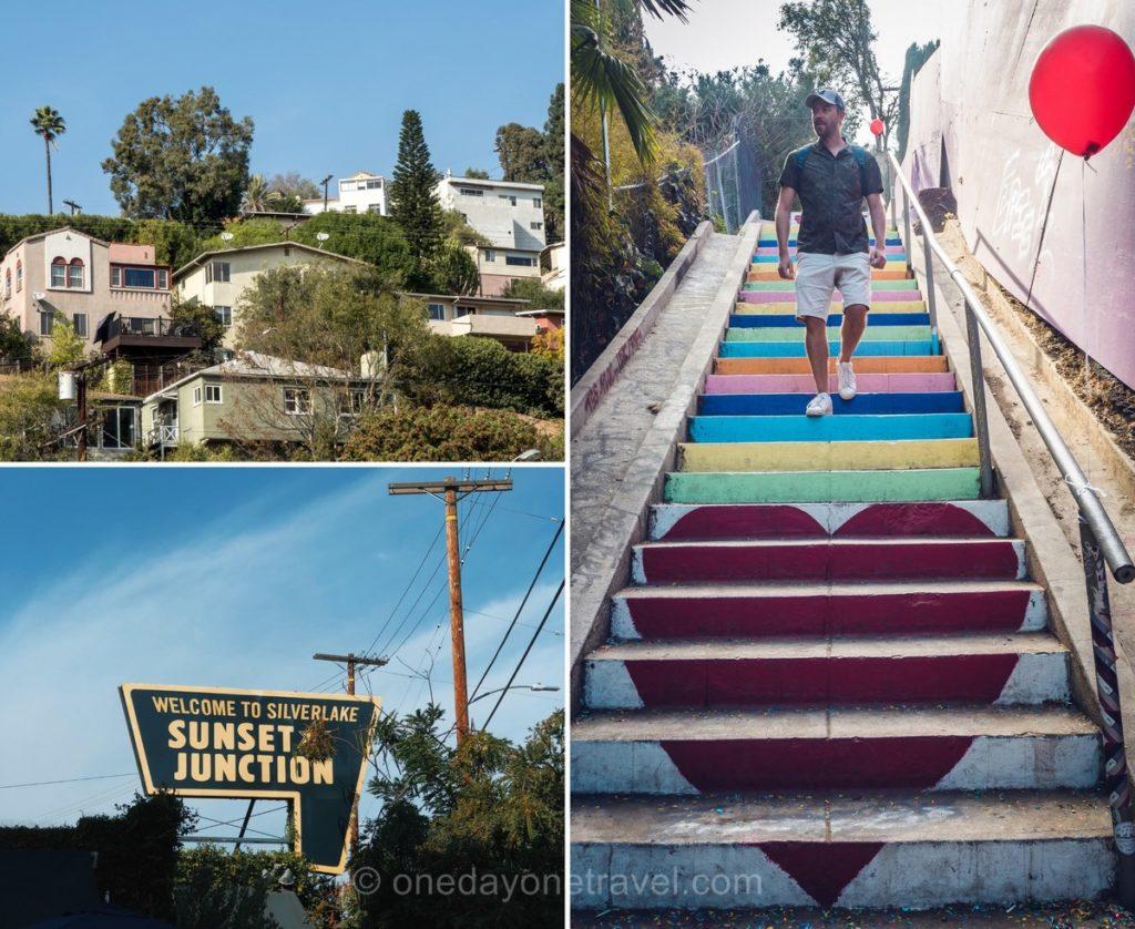 Silver Lake et son escalier instagrammable - Visiter Los Angeles hors des sentiers battus