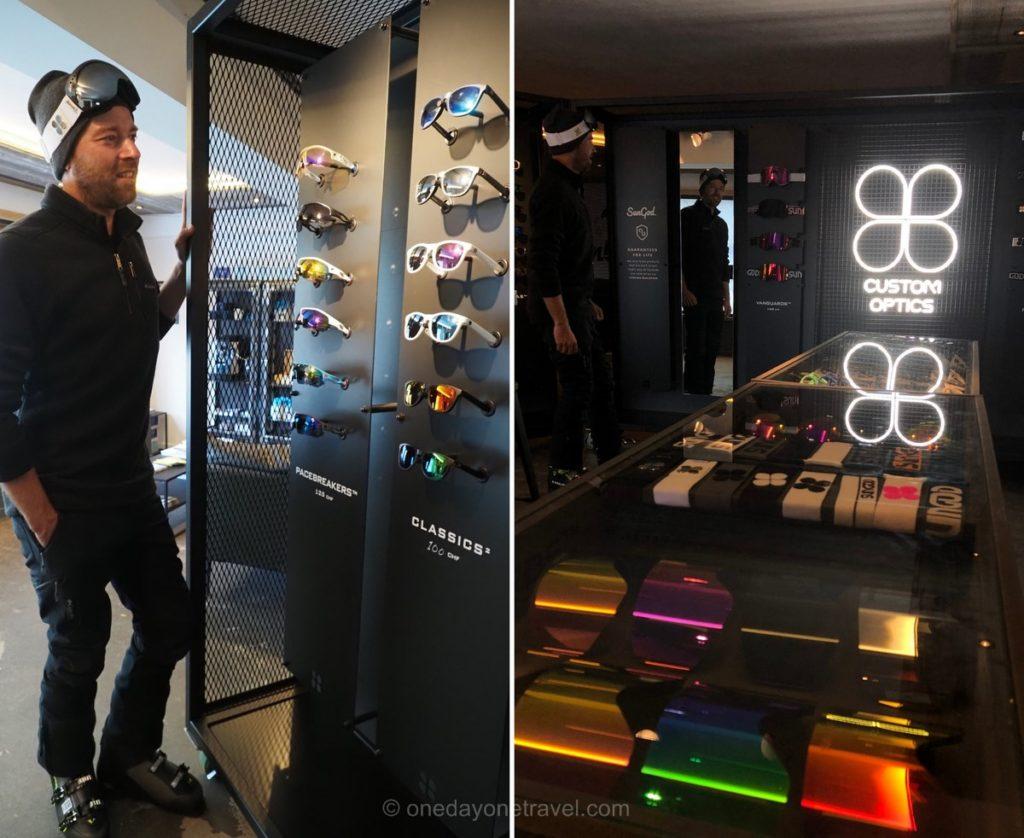 Boutique SunGod à Verbier pour lunettes et masques de ski