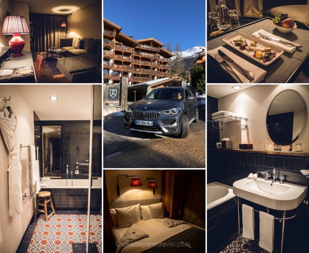 Chambre à l'hôtel de la Cordée des Alpes à Verbier