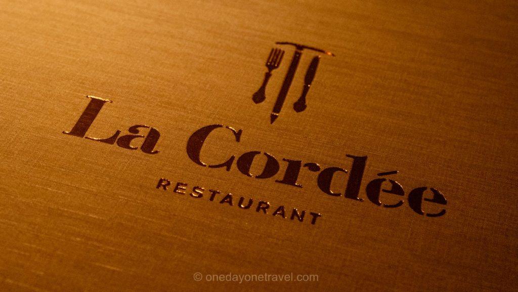 Carte du restaurant La Cordée à Verbier