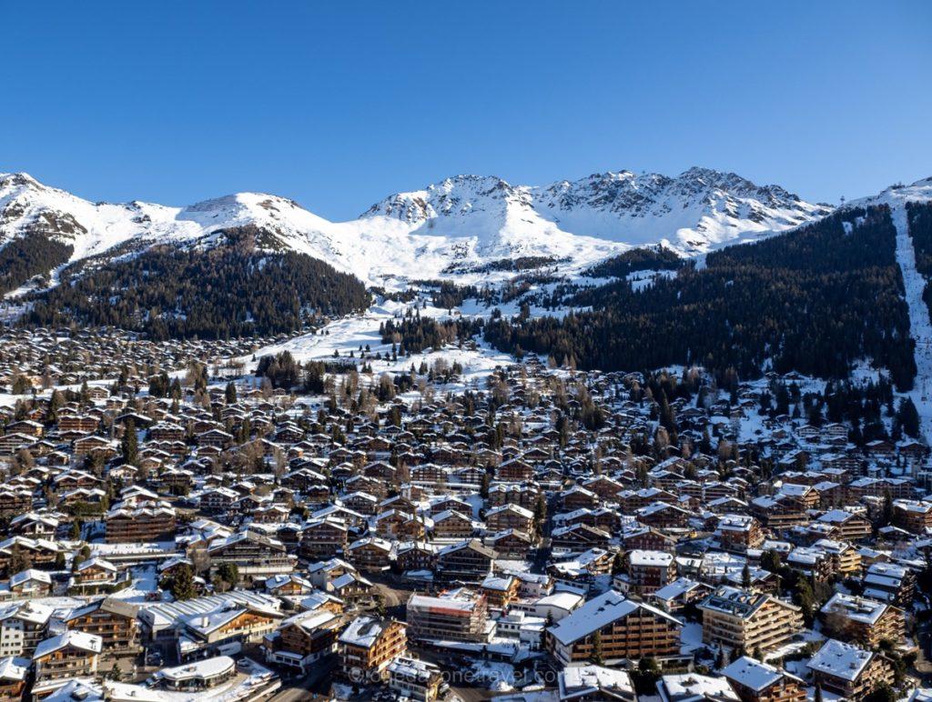 Station et village de Verbier en Suisse canton du Valais
