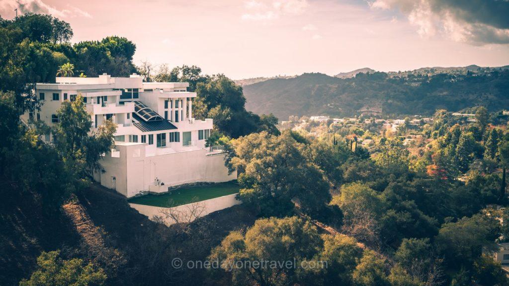 Villa de star vue depuis Mulholland drive à Los Angeles