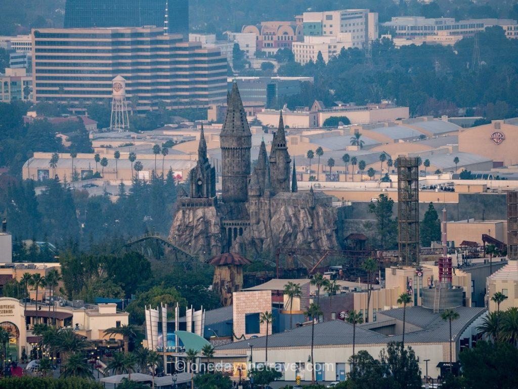 Universal studios vues depuis Mulholland drive - Visiter Los Angeles