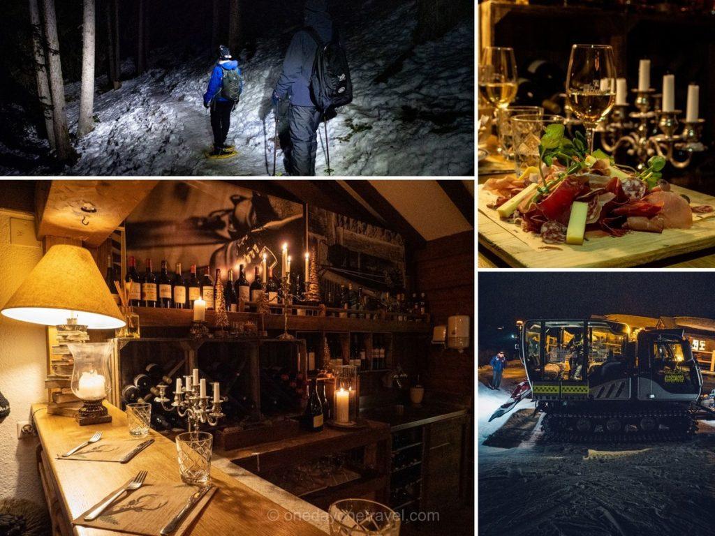 Randonnée raquettes et restaurant d'altitude chez Dany à Verbier
