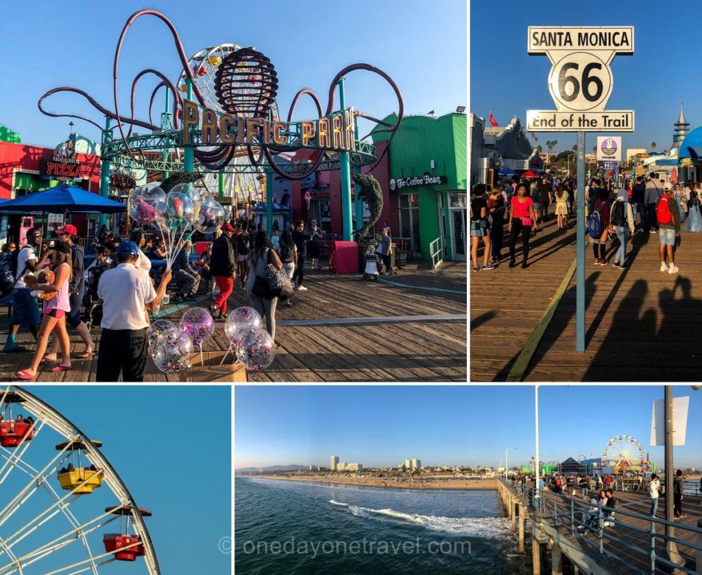 Ponton de Santa Monica à Los Angeles et ses attractions touristiques