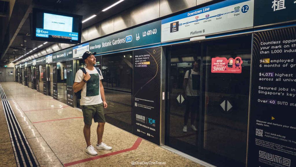 Comment circuler à Singapour métro