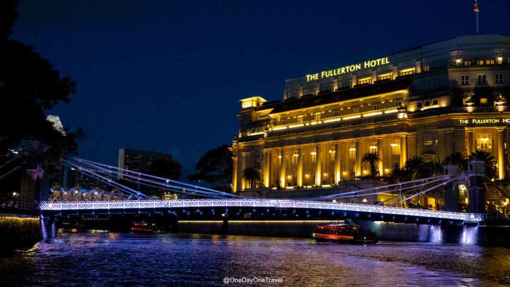 Singapour rivercruise de nuit