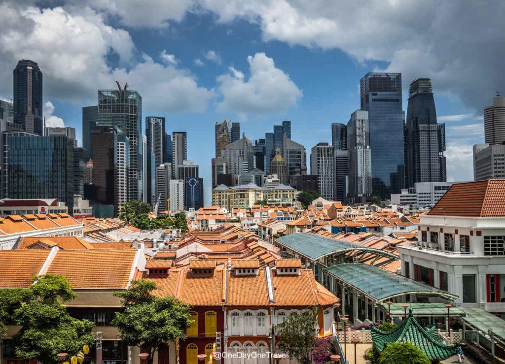 Singapour vue quartier chinois Chinatown