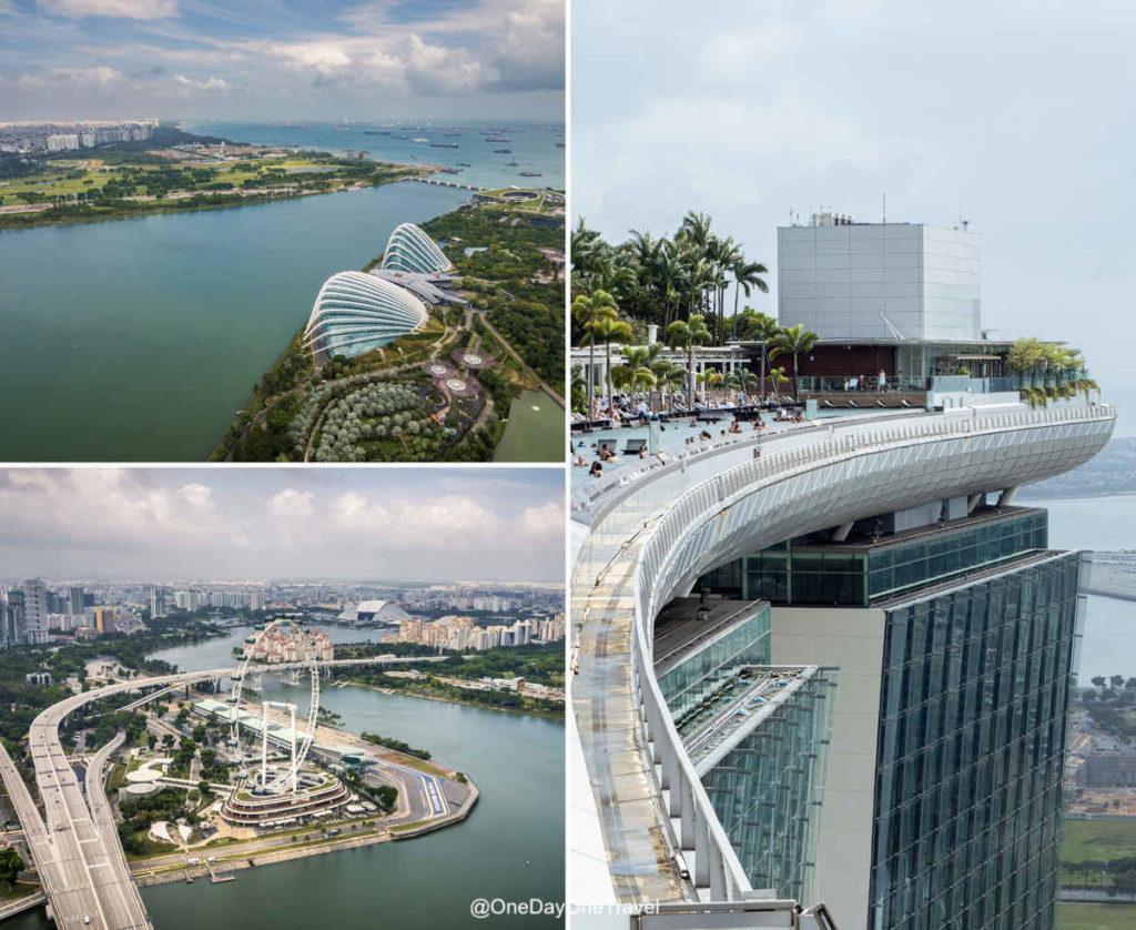 Marina Bay Sands observatory deck Singapour
