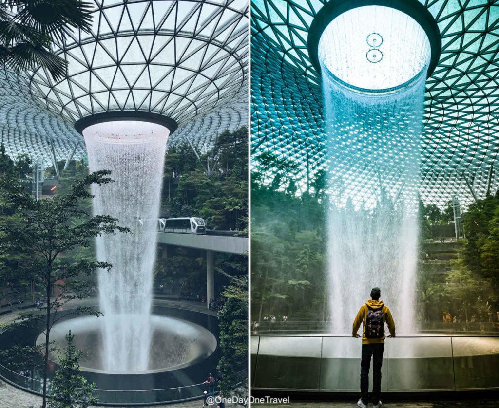 Visiter Singapour Jewel Changi airport cascade