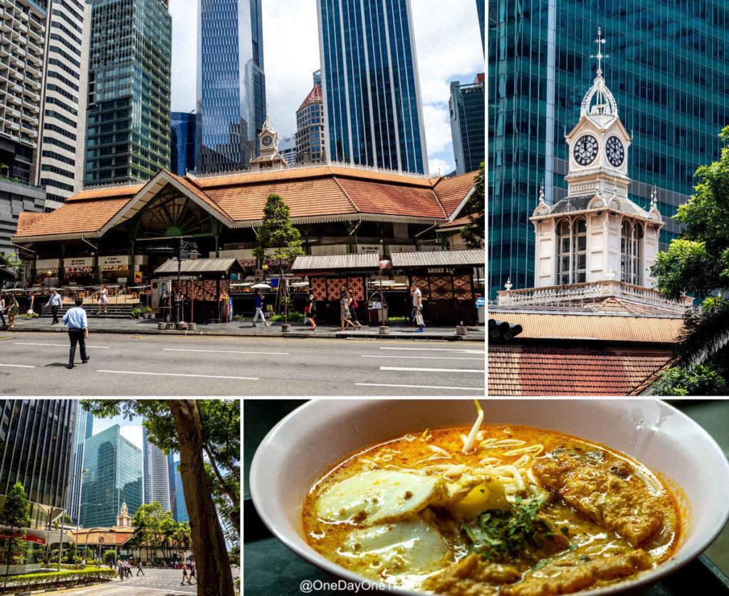 Singapour lau pa sat marché couvert