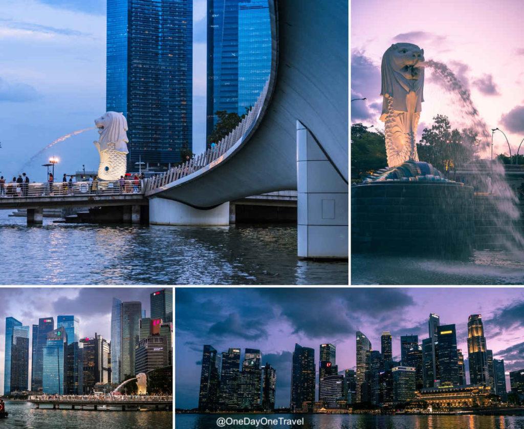 Singapour Marina au coucher de soleil rivercruise