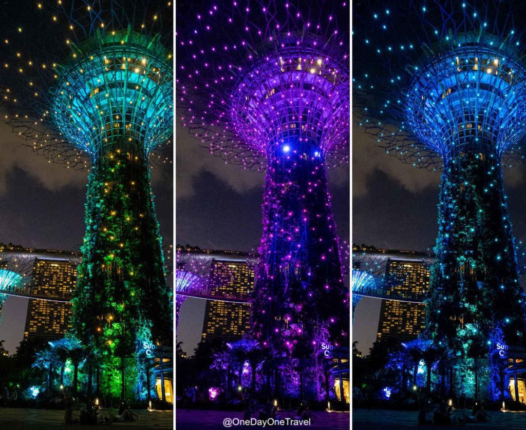 Singapour supertrees show