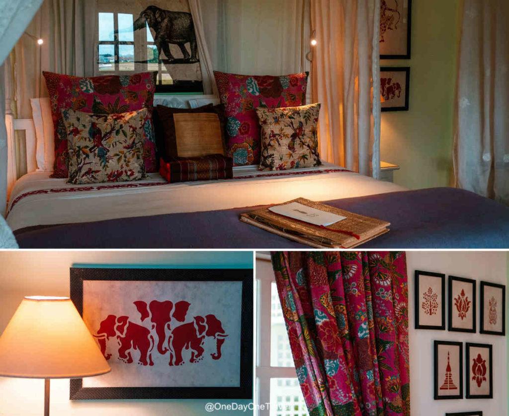 Notre chambre à la maison Simba Bali