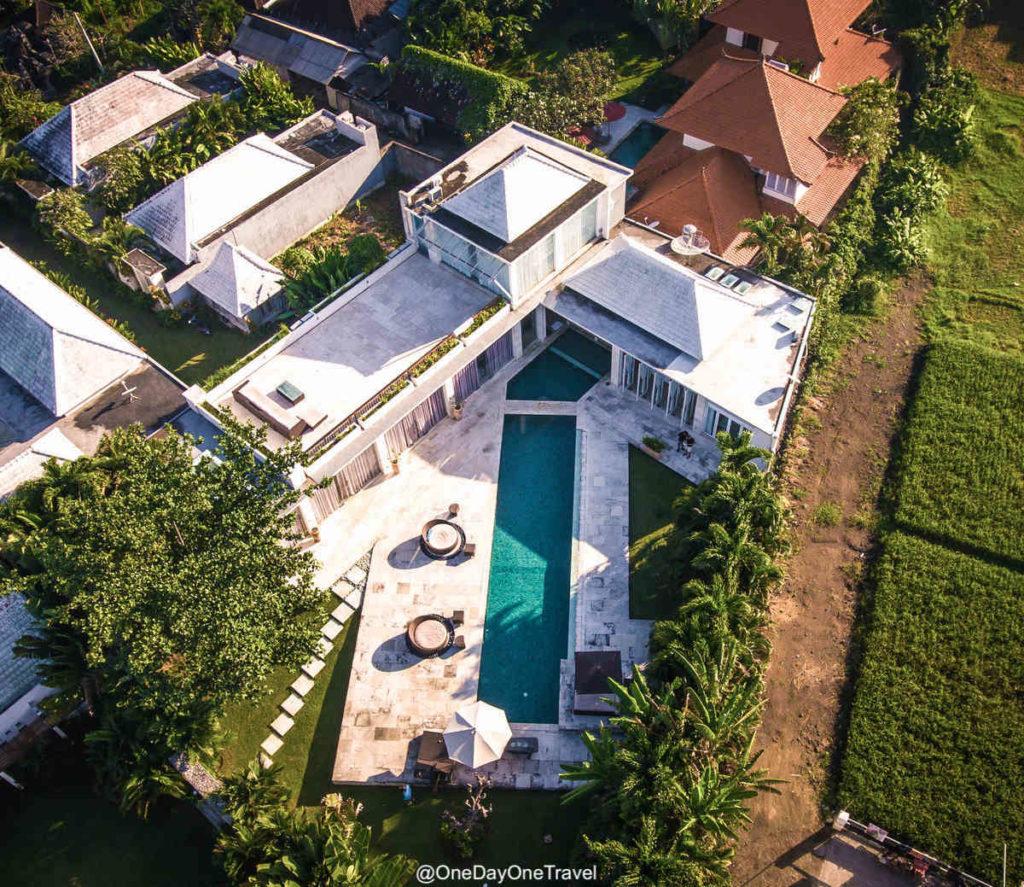 Villa Putih Satu vue du ciel - Dormir à Bali Canggu