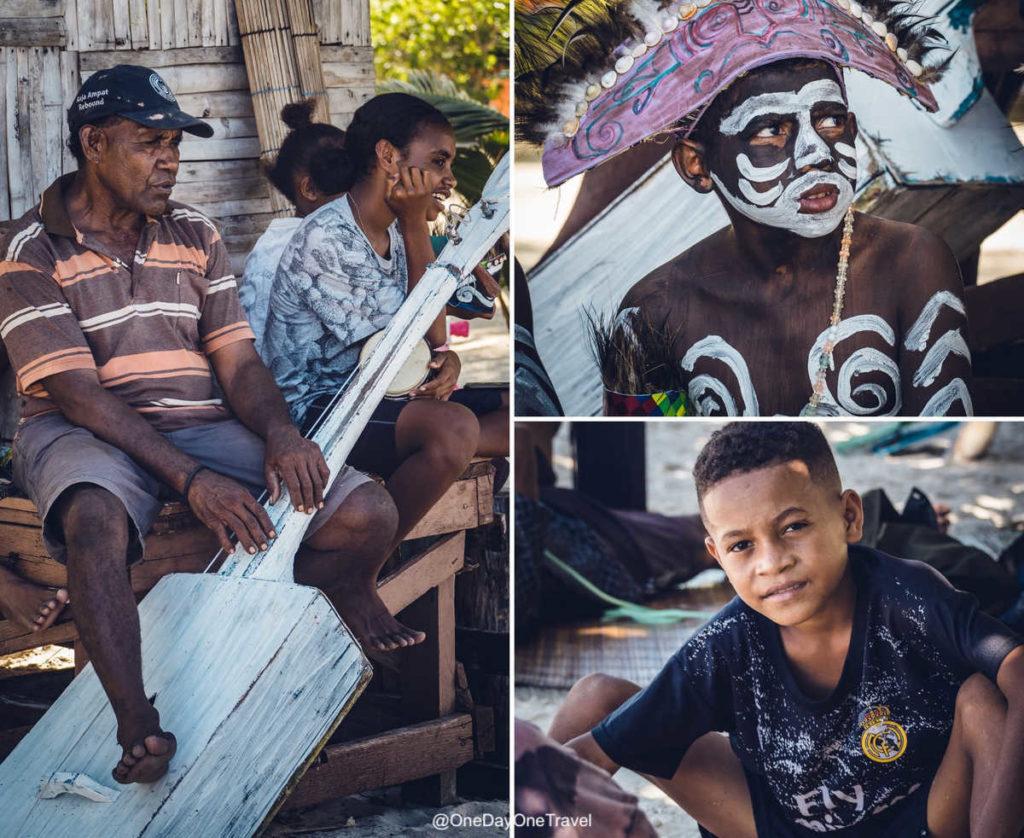 Les habitants de l'île indonésienne d'Arborek - Voyager à Raja Ampat