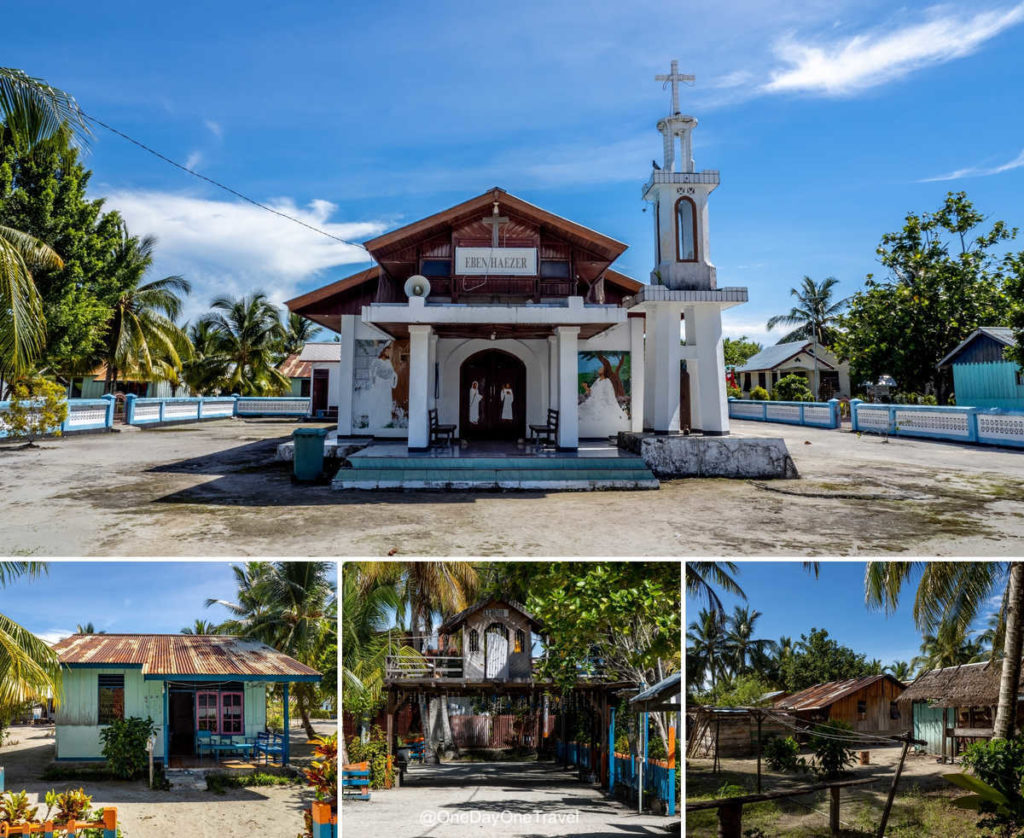 Eglise d'Arborek island et habitats - Visiter Raja Ampat Indonésie