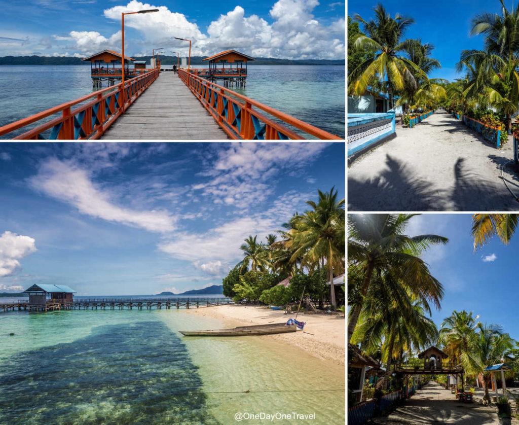 Ponton d'Arborek et arrivée sur l'île de rêve des Raja Ampat - Blog voyage OneDayOneTravel
