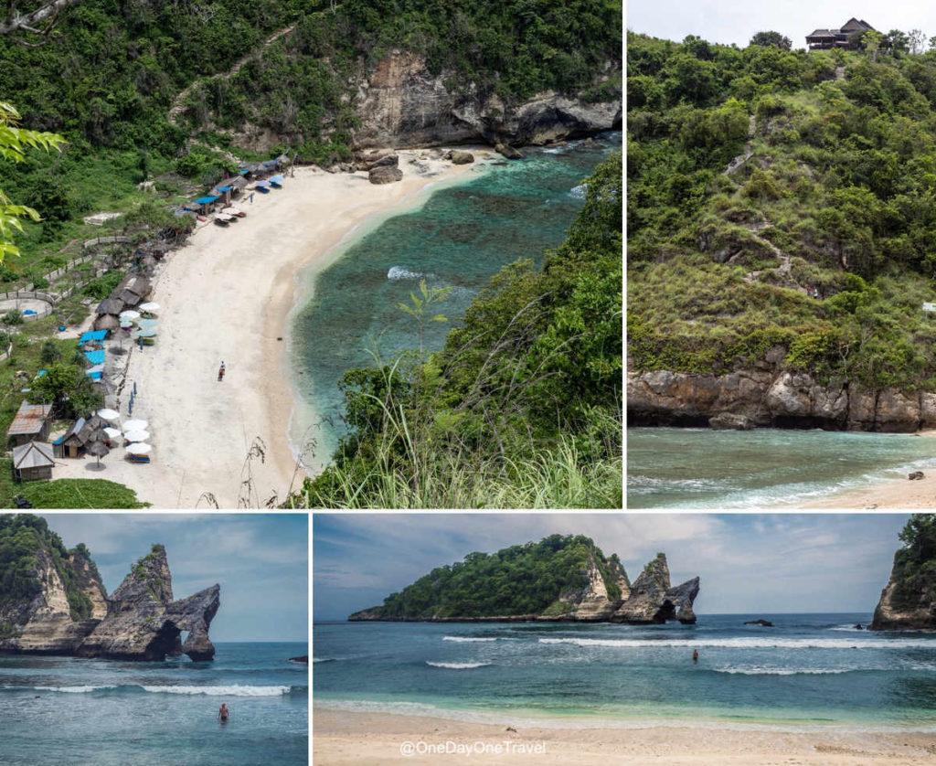 Atuh beach Nusa Penida - Vues panoramique et depuis la plage paradisiaque