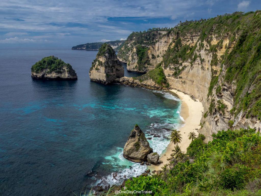 Diamond beach plage de rêve Nusa Penida indonésie