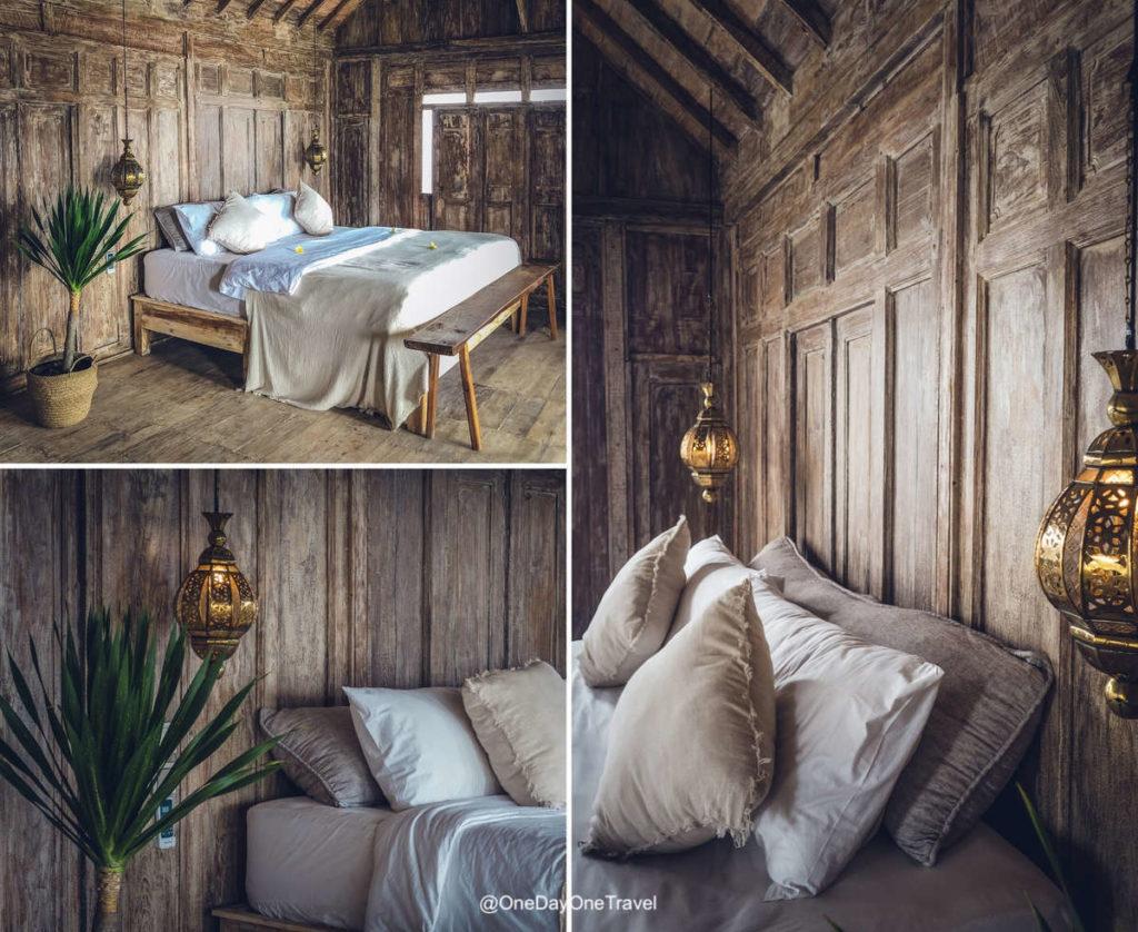 Chambre lit king size du Raja Lima resort & spa - Dormir à Nusa Penida
