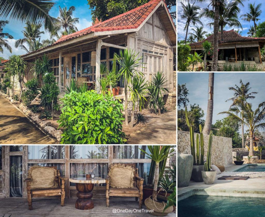 Joglos du Raja Lima resort & spa à Nusa Penida - Visiter Bali et l'Indonésie