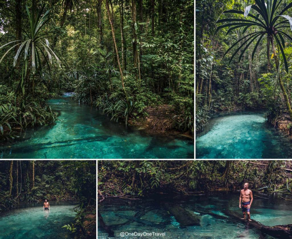 Kali Biru ou blue river à Raja Ampat