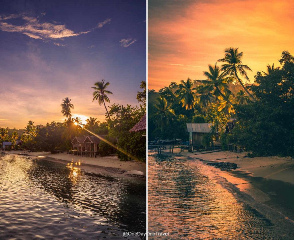 Coucher de soleil à Raja Ampat - Blog voyage OneDayOneTravel