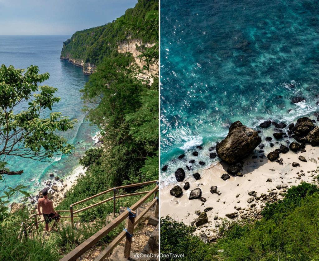 Accès à Suwehan beach - Visiter Nusa Penida blog voyage OneDayOneTravel