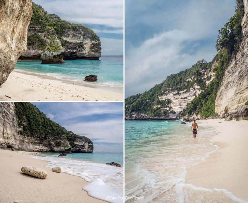 Plage paradisiaque de Nusa Penida - Suwehan beach
