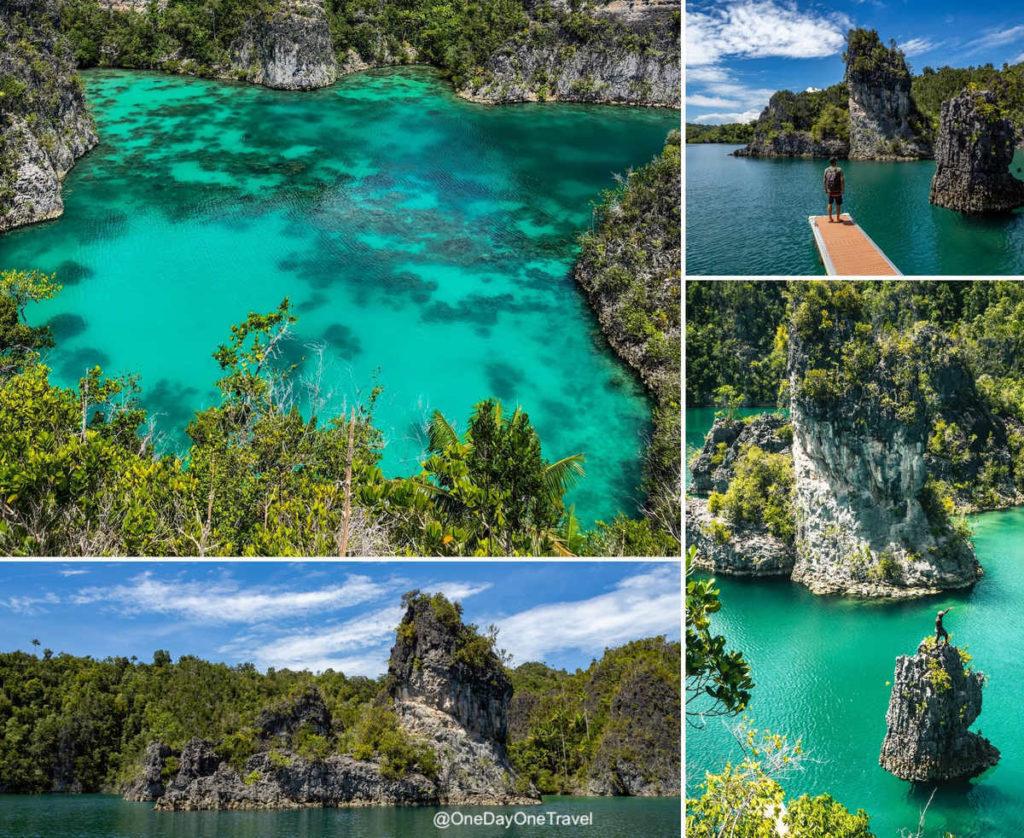 Telaga Bintang ou Star Lagoon à Raja Ampat et son point de vue magique