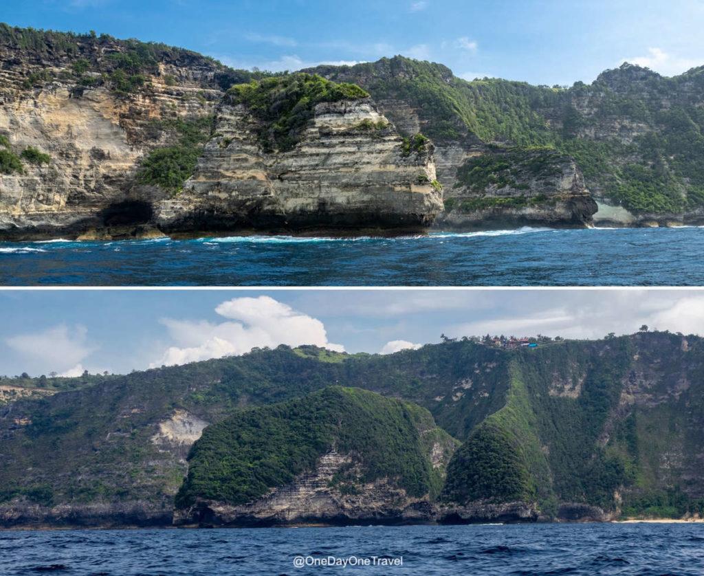 Côte déchiquetée de Nusa Penida - Visiter Nusa Penida en bateau