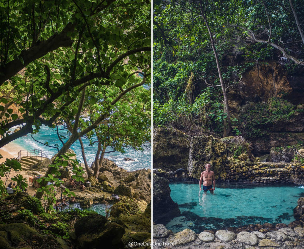 Tembeling beach and forest piscine naturelle Nusa Penida