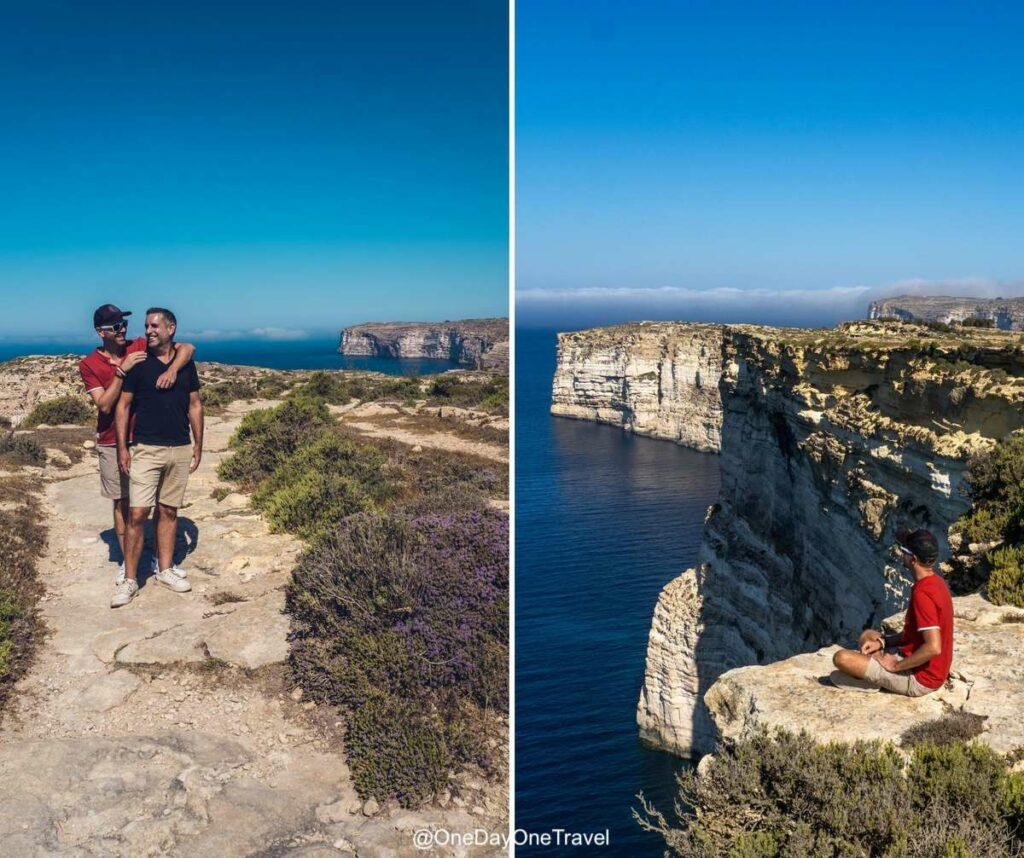 Randonner le long des falaises de Gozo - Vacances à Malte