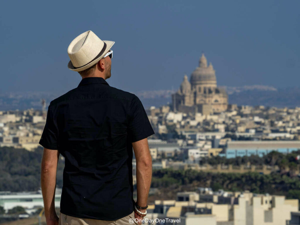 Richard blog voyage OneDayOneTravel à Gozo qui visite Malte - Vue depuis la Citadelle Victoria