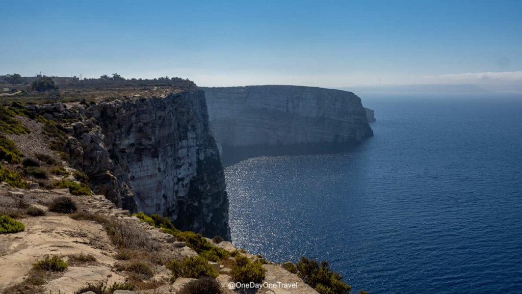 Les falaises de Gozo - Explorer Malte côté Nature avec les conseils du blog voyage OneDayOneTravel