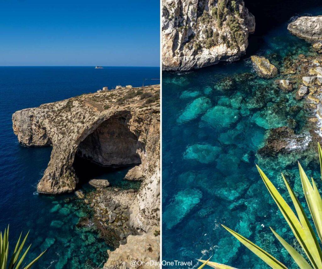 Visiter la grotte bleue de Malte : Wied iż-Żurrieq