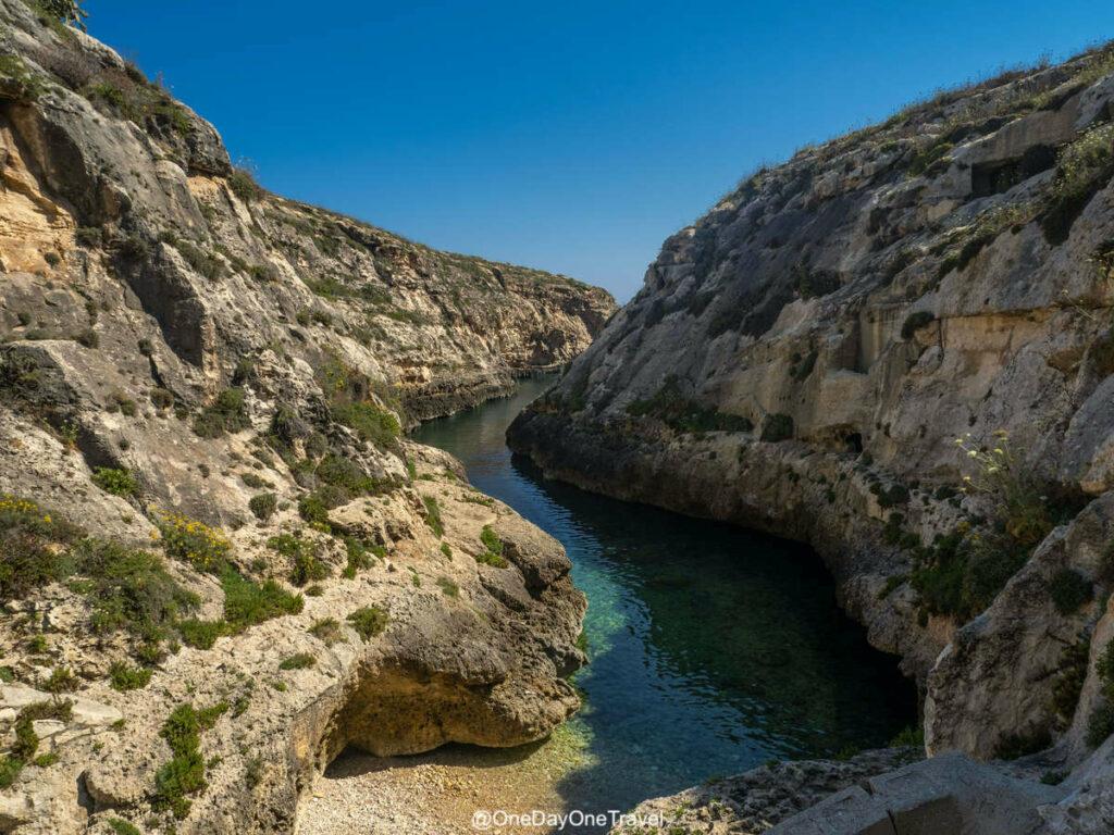 Visiter le Gozo sauvage à Malte : Wied il Ghasri