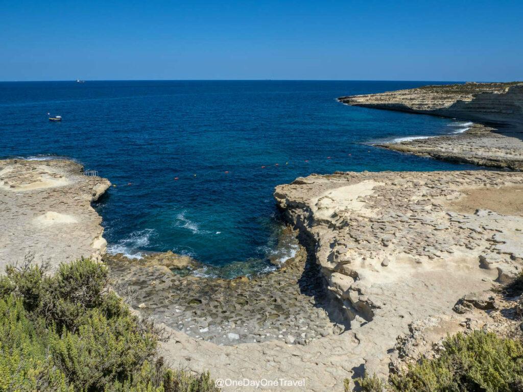 Côte sauvage de Malte proche de Saint Peter's pool - Site naturel incontournable lorsqu'on vient visiter Malte pour la première fois