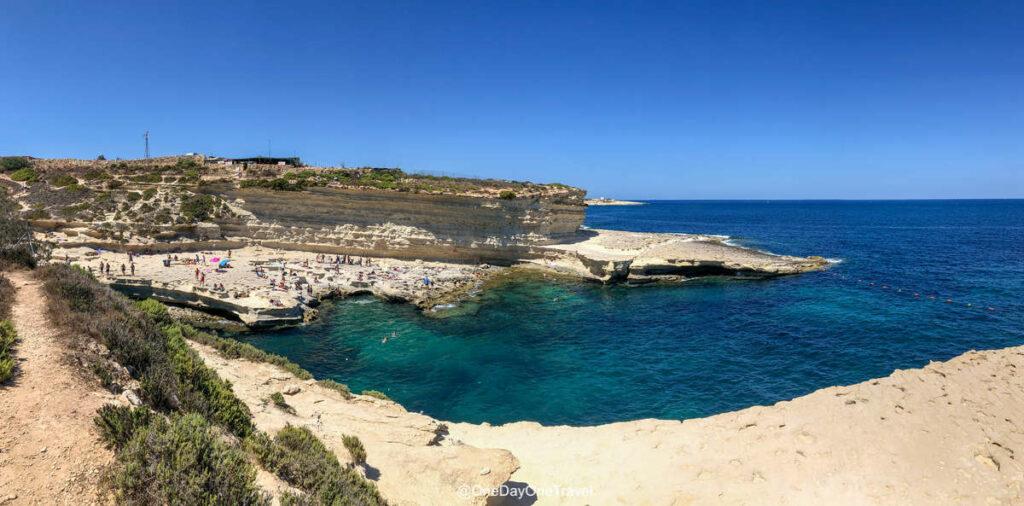Piscine naturelle de Saint-Pierre (St Peter's pool) - Visiter Malte pour la première fois guide de voyage